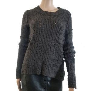 Free People | Soft Open Knit Reverse Seam Sweater